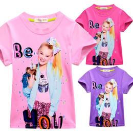 f86e1a269 Manga corta jojo siwa ropa Ropa de diseñador para niños Niñas adolescentes  ropa Algodón de verano Camiseta para niñas Tops A2247 ropa de verano para  ...