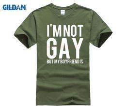 ee113b3d39c O Neck Hip Hop Tops Male Famous I'M Not Gay Bu My Boyfriend T Shirt Lgbt  Homosexual Friends Gift Birthdays Party Tee Shirts boyfriend tee shirt  promotion