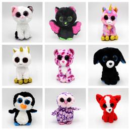 poupée jouet beanie Promotion Mode 36 style 15 cm taibini poupée en peluche beanie boos grands yeux poupée animaux cadeau enfants jouets T2G5024
