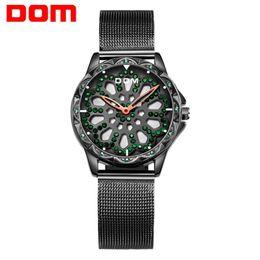 Стальной дом онлайн-DOM Watch Women Watches Ladies Creative Steel Women's Bracelet Watches Female Clock  Montre Femme G-1257BK-1MS