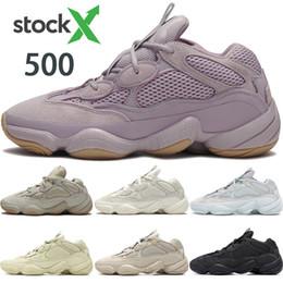 New Desert Rat 500 Vision douce blush sel pierre chaussures de course kanye hommes ouest os blanc noir hommes utilitaires femmes chaussures sport