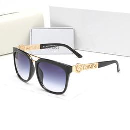 óculos de sol de lentes roxas Desconto [Com Caixa] VERSACE Moda Óculos De Sol Óculos De Sol Dos Homens Do Vintage Quadro de Ouro Óculos de Sol Das Mulheres Top Quality SGA10