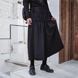 2019 legging saia mais tamanho 27-44! Personalizado Grande código Novos homens e mulheres de moda Saia de pernas longas de cabeleireiro com botões plus size calças legging saia mais tamanho barato