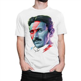 science tees Coupons - Tesla David Bowie Art T-shirt, Science Tee, Men's Women's All Sizes size discout hot new tshirt top free shipping t-shirt