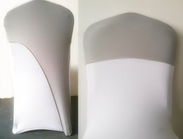 Bonés cor cinza on-line-Cinza prata cor Spandex tampa da cadeira tampa de lycra meia capa festa de casamento do hotel banquete decoração trecho cadeira elástica