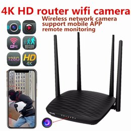2019 visionsbüros 4K HD Router Wifi Kamera Heim und Büro Wireless Netzwerk Kamera Video Recorder Unterstützung Nachtsicht Handy Remote Monitor günstig visionsbüros