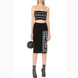 roupas sexy para a noite Desconto Designer de marca de Roupas Femininas Moda Verão Two Piece Vestido fatos de Treino Mulheres de Luxo Duas Peças Outfits Elegante Noite Sexy Saias