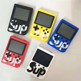 Factory Direct Sell SUP mini console portatile Sup Inoltre portatile nostalgico del giocatore del gioco 8 Bit 400 Games FC Giochi di colore Player LCD da
