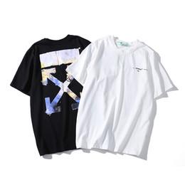 Chemise blanche en Ligne-Nouveauté Mens Tshirts Summer white Designer Astroworld Lettres Imprimer T-shirt à manches courtes hommes / femmes