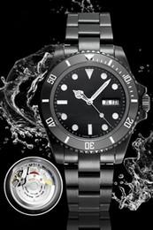 montres à lustre Promotion Montres de haute qualité Montre automatique de la machine Le dernier SUB étanche 100m de la collection Night Glow Watch SUB étanche