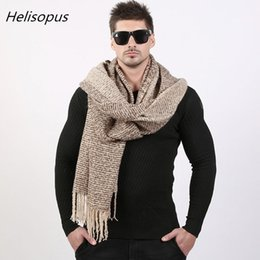 99abab1078e49 Helisopus Wool Scarf Men Autumn Winter Gradient Color Scarf Couple's Knitted  Cashmere Long 70cm*200cm