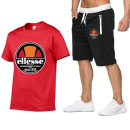 V neck shirts mens on-line-Mens Designer de treino Fatos de Verão Camisa + Shorts Homens Stall Collar Com Decote Em V Mangas Compridas Pulôver Com Calça Casual Basculador