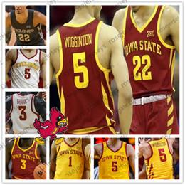 jersey de tucker Rebajas Personalizado Iowa State Cyclones Baloncesto Cualquier nombre Número Amarillo Rojo Blanco 3 Marial Shayok 5 Lindell Wigginton 11 Talen Horton-Tucker ISU Jersey