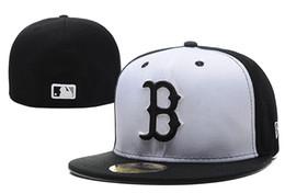 Boa Venda Novo Boston Vermelho Em Cor Preta Cheio Cabido Chapéus Lisos Sox Bordado Fechado Caps Chapeu Projeto Hip Hop de