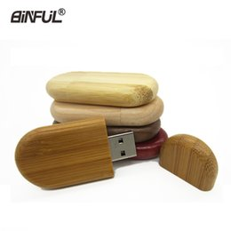 chip sticks Promo Codes - Hot Wooden Usb Flash Drive 4gb 8gb 16gb 32gb 64gb Bamboo Pen Drives Wood Chips Pendrive Memory Stick U Disk Personal Gift