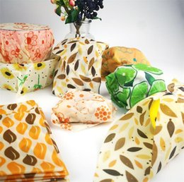 snack plastic packaging Coupons - 3pcs set Zero Waste Food Reusable Wrap Sustainable Plastic Free Beeswax Food Wrap Snack Fruit Packaging Kitchen Food Fresh Keeping Covers