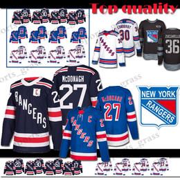 Adult New York Rangers Hockey Jersey 30 Henrik Lundqvist 17 Jesper Fast 36  Mats Zuccarello 20 Chris Kreider 61 Rick Nash Jerseys 4a468a035