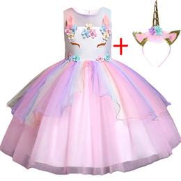Vêtements de marque vêtements pour enfants en Ligne-Bébé Filles Vêtements Marque Halloween Princesse Vêtements D'été Robes Enfants Pour Filles Licorne Robe Enfants Robe De Fête De Noël