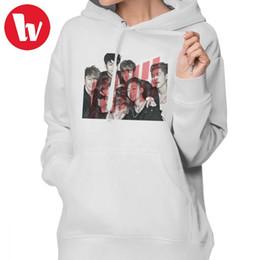 Ikon Kpop Hoodie IKON Hoodies Cotton Street wear Hoodies Women Navy Blue  Graphic Oversize Long-sleeve Trendy Pullover Hoodie discount women trendy  hoodie 0f483861c9