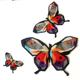 b8f690a1f 1 Unids Bordado Mariposa de Encaje Parche de Tela, DIY Tela de Encaje  Parches Escote Ropa Apliques de Costura Artesanal