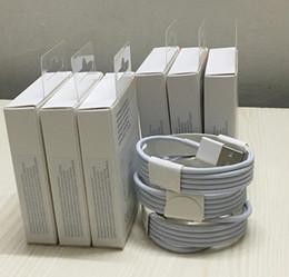 telefones celulares andriod Desconto Melhor Cabo branco de USB para o i5 6 7 1m 3FT 2m 6FT com linha de empacotamento dos dados de empacotamento originais da caixa do retalho