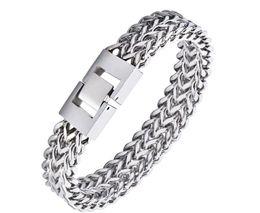Bijoux pionnier en Ligne-Le dernier hit a frappé les tendances européennes et américaines de la mode tendances accessoires bijoux hip hop bracelet en acier inoxydable chaîne épaisse