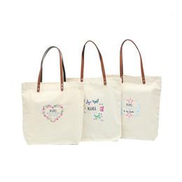 2020 sacchi di giorno delle madri Festa della mamma Borsa di tela MAMA letter print Tote Gift Bags Borsa a tracolla Outdoor Travel Totes C6241 sacchi di giorno delle madri economici