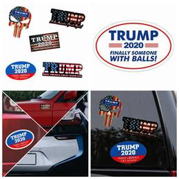 Acampamento adesivos on-line-Novas Trump viaturas reflexivos etiquetas fazem America Great Again 2020 Trump adesivos Donald Trump Car Bandeira Etiqueta Outdoor Gadgets ZZA1170