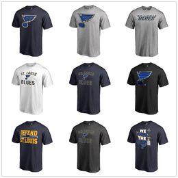 2019 nhl camiseta Personalizado 2018-19 Nova Temporada NHL ST. LOUIS BLUES camisetas 91 Vladimir Tarasenko Qualquer jogador de nome e número de jogador curto T-shirt nhl camiseta barato