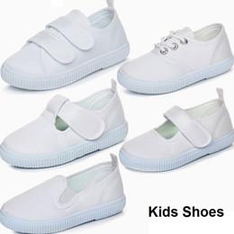 Повседневная обувь для танцев онлайн-Детская обувь Белого студент танец Белая обувь Детского Холст Повседневная обувь Белого Спорт Runing Танцы обувь 5 стилей