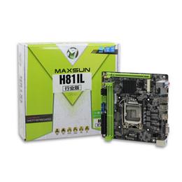 escritorio intel i5 Rebajas Placa base ITX Intel H81 LGA 1150 Socket USB2.0 SATA3.0 PCI-E Memoria dual DDR3 i3 i5 i7 Procesador Original de la placa base