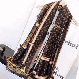 Nouvelle écharpe en soie 2019 Femmes chaudes Lettre châle écharpe fashion anneau long cou cadeau de Noël 180x90cm ? partir de fabricateur