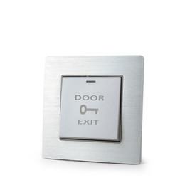 Interrupteur de sortie en Ligne-Ignifuge plastique ABS porte bouton de sortie bouton poussoir d'urgence pour la porte système de contrôle d'accès d'entrée pour toutes les serrures électriques