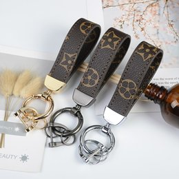 keychain fashion brands Coupons - Luxury Key Buckle Fashion Designer Keychain Brand Handmade Brand Car Leather Keychain Mens Woman Bag Charm Pendant Accessories New Arrive