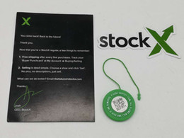 Venta al por mayor StockX Tag OG QR Code Sticker Green Circular Plastic Tag Verified Authentic Green Shoe Buckle desde fabricantes