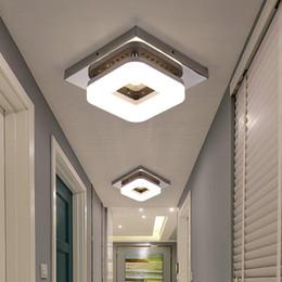 luces de techo del balcón Rebajas Moderno montaje empotrado Luz de techo Pasillo Porche Balcón Lámpara Iluminación interior Superficie montada Cuadrado LED Luces de techo