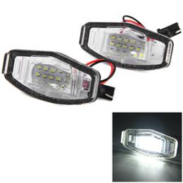 luzes da cidade de honda Desconto 12 V SMD 3528 Luz Branca 18 LEDs Lâmpada Da Placa de Licença para Honda Accord 4D City Odyssey Civic 4D - 2 pcs