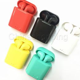 2019 caixas de fone de ouvido I7S Mini TWS fone de Ouvido Bluetooth Fone de Ouvido Sem Fio Duplo Fone de Ouvido com Caixa de Carregamento de Fone De Ouvido para o iphone Xs Max Android com Pacote de Varejo