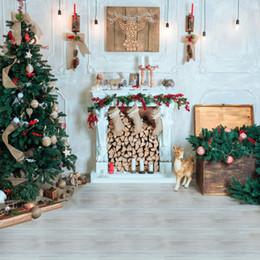 Weihnachtsmann fotos online-Requisiten 3D Santa Claus Hintergrund Fotografische Weihnachten Hintergrund Fotografie Board Decor Photo Studio