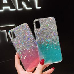 Capas de telefone celular brilhantes on-line-Novo brilho em pó tpu celular mobile phone case capa para iphone xs max xr x 6 6 s 7 8 além de bling bling macio estojo