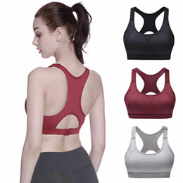 ae532964bf3c9 Women Sport Bra Top Wine Gray Black Padded Yoga Brassiere Fitness Sports  Tank Top Female Sport Yoga Bra Push Up Sports