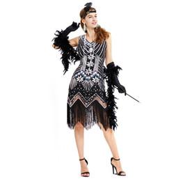 Canada Modèles d'explosion 2019 printemps chaud rétro sac sexy hanche perlée à la main paillettes robe de soirée gland XL cheap hot models evening dress Offre