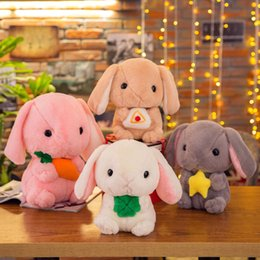 2019 conejito kawaii Nuevos Kawaii Bunny Anime Cartoon Soft Toys 20 cm Crystal Super Soft Bunny Plush Toys Stuffed Doll Kids Baby Doll de felpa conejito kawaii baratos