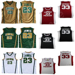 premium selection 91c2c 189aa Herren LeBron 23 James Kobe 33 Bryant Lower Merion College-Trikot James 13  Harden St. Vincent Mary High School Irische Basketball-Trikots