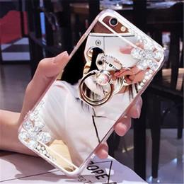 iphone luxus spiegel galvanisieren Rabatt Für iPhone Fall Luxus-Flash-Bohrer Halter Handy Shell für iphone xs Galvani Spiegel Telefonkasten weiche Seite All-inclusive 3 Farbe