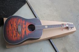 Deutschland OEM-Fabrik Custom Jack Daniels Brown Tobacco Akustikgitarre Hardcase Versorgung