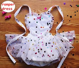 Baby Girl Romper Dress Summer Toddler Combinaison à pois coloré Fille sans manches amour coeur tissu de conception ? partir de fabricateur