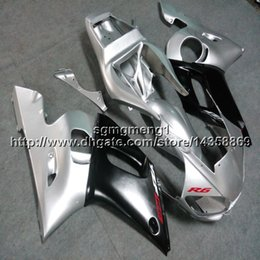 2019 1999 yamaha r6 обтекатели пластмасс Botls + Gifts серебристо-черный мотоцикл артикул для Yamaha YZF-R6 1998 1999 2000 2001 2002 ABS Пластик двигателя Обтекатель дешево 1999 yamaha r6 обтекатели пластмасс