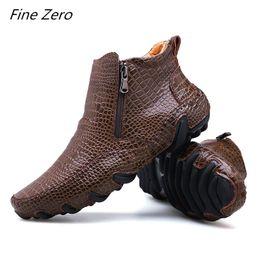 Nouvelle Mode Casual Hommes Printemps / Hiver Bottes À La Main Top Layer En Cuir Bottes De Travail En Plein Air Non-slip hommes Chaussures De Randonnée Chaussures À La Cheville ? partir de fabricateur