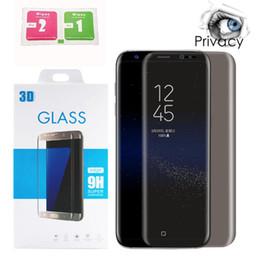 protector de pantalla antirreflejos de manzana Rebajas Para Samsung Galaxy S8 Note8 S9 S9 Plus Protector de pantalla Privacidad Vidrio templado Anti deslumbramiento HD Película Protector de pantalla de privacidad